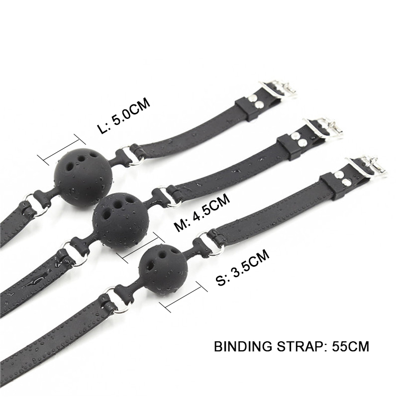 Couple Silicone Gag Ball BDSM Bondage Restraints Open Mouth Breathable Sex Ball Harness Strap Gag Sex Toy for Women Accessories 2