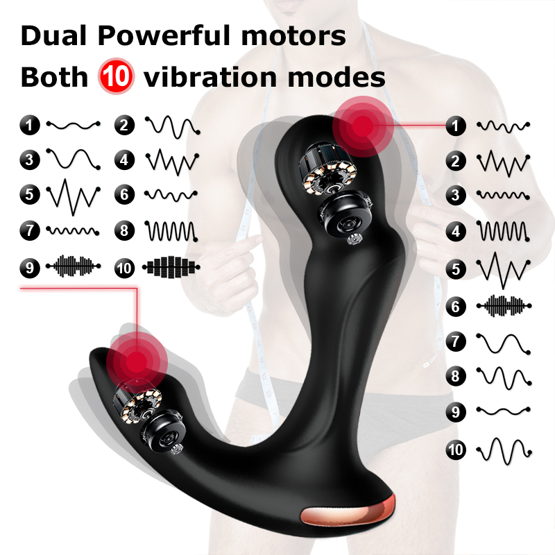 Sex Toys For Men Prostate Massager Vibrator Butt Plug Anal Tail Rotating Wireless Remote USB Charging Adult Products For Man 2