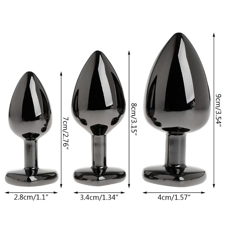 Sex Toy Anal Tail Butt Plug Funny Plug Anal Butt Plug For Women Aluminum Alloy Butt Plated Rhinestone Suction Cup Stopper Game 5
