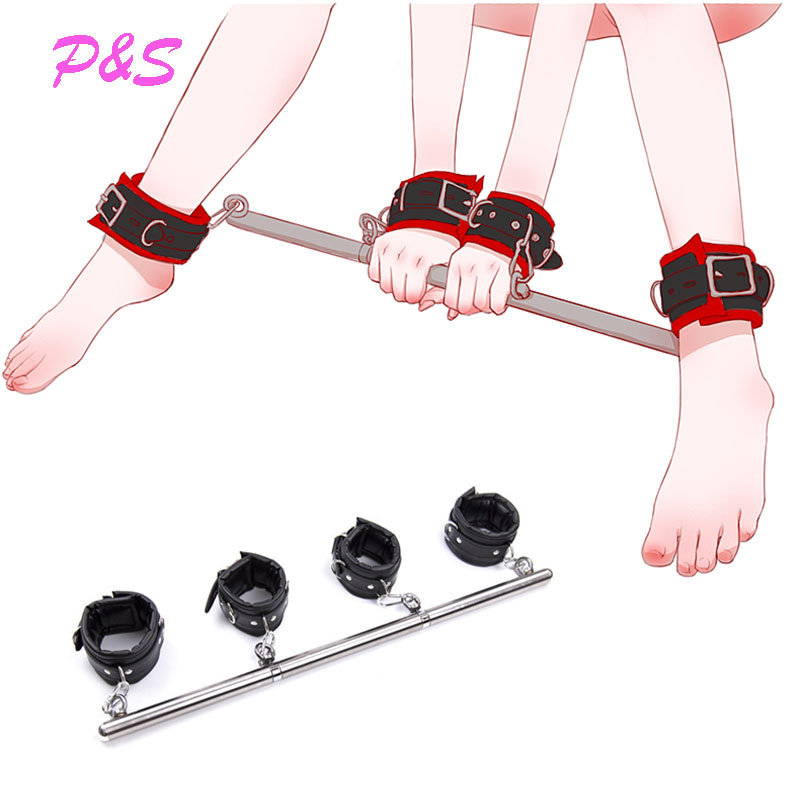 BDSM Slave Bondage Removable Stainless Steel Spreader Bar For Sex Hand Cuffs Ankle Cuffs SM Cosplay Costumes Adults Sex Toys