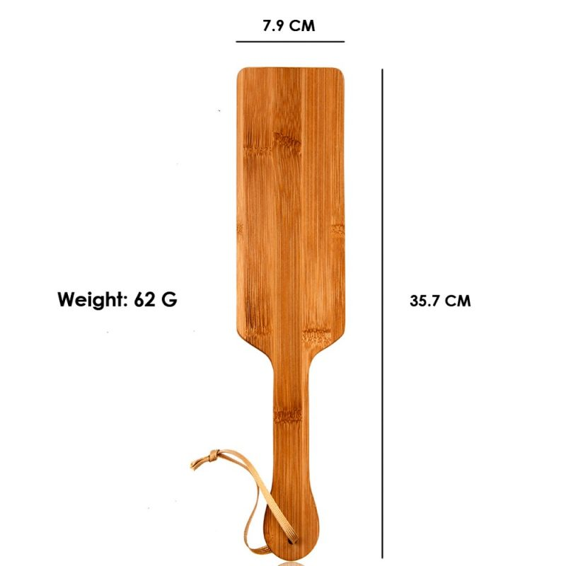 Natural Bamboo SM Spanking Paddle Print Wood Clap Flap Pat Beat Whip Lash Flog Ass Butt Adult Slave Game Sex Toy for Couple-30 5