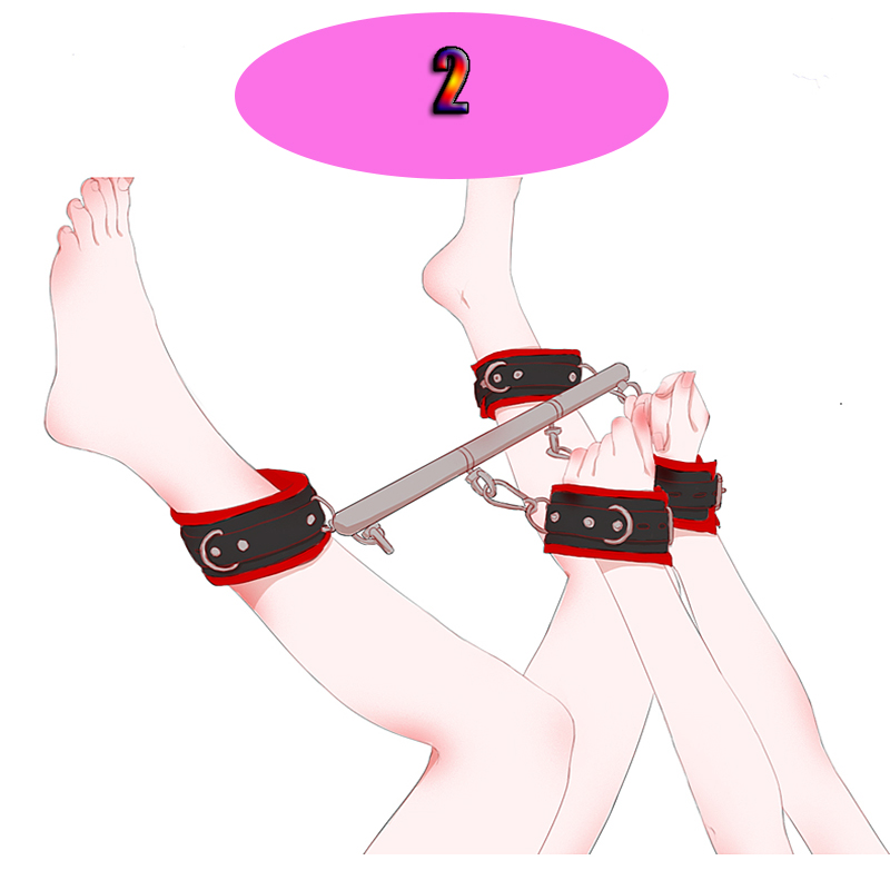 BDSM Slave Bondage Removable Stainless Steel Spreader Bar For Sex Hand Cuffs Ankle Cuffs SM Cosplay Costumes Adults Sex Toys 5